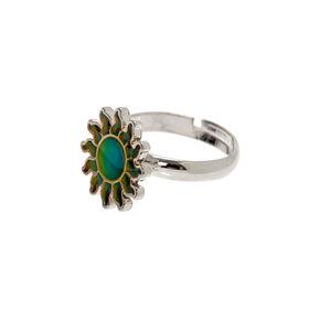 Silver Sun Mood Ring,