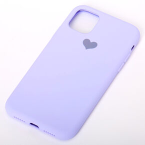 Lavender Heart Phone Case - Fits iPhone 11,