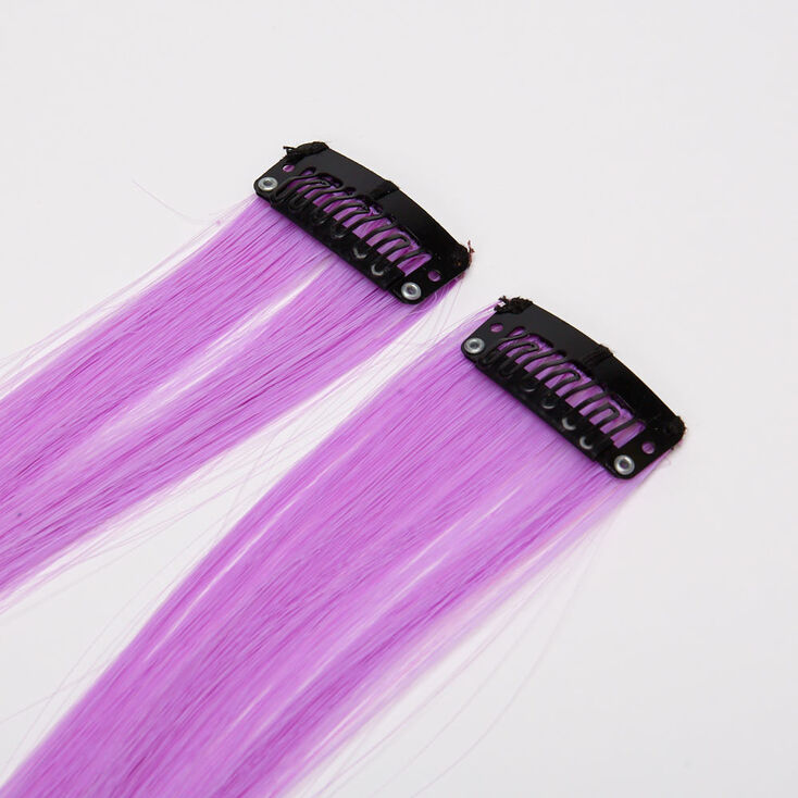 Sky Brown™ Ombre Faux Hair Clip In Extensions - Lavender, 2 Pack,