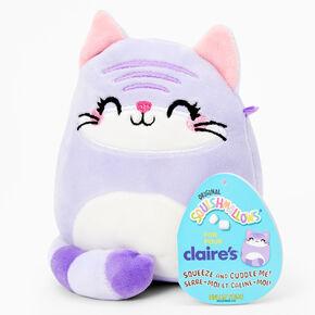 "Squishmallows™ 5"" Claire's Exclusive Cat Plush Toy - Purple,"