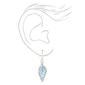 Holographic Wings Drop Earrings,