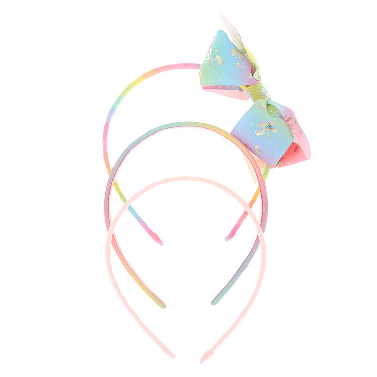 Claire's Club Pastel Glitter Unicorn Headbands - 3 Pack,
