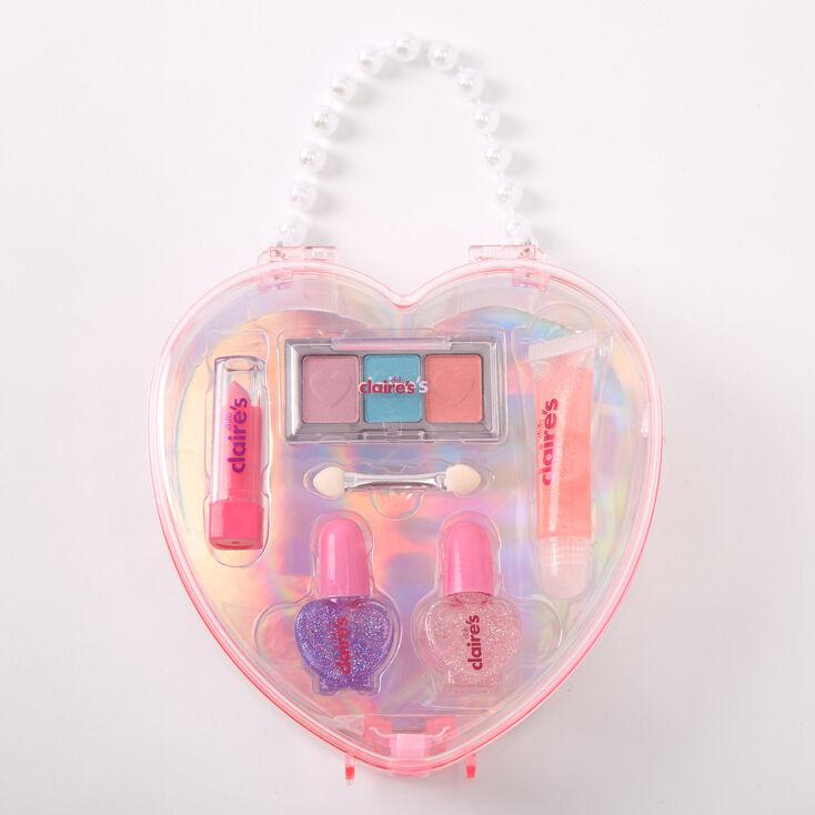 Palette compacte de maquillage cœur Claire'sClub - Rose,