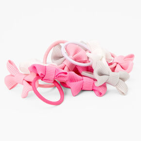 Claire's Club Pink Ombre Bow Hair Ties - 10 Pack,