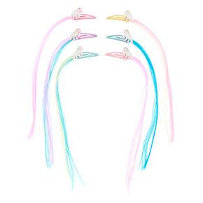 dec804549 Claire's Club Faux Hair Unicorn Snap Hair Clips - 6 Pack