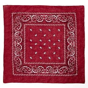 Bandeau bandana motif cachemire - Bordeaux,