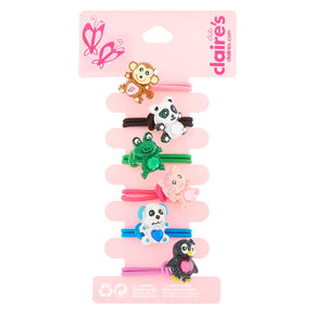Claire's Club Animal Hair Ties - 6 Pack,