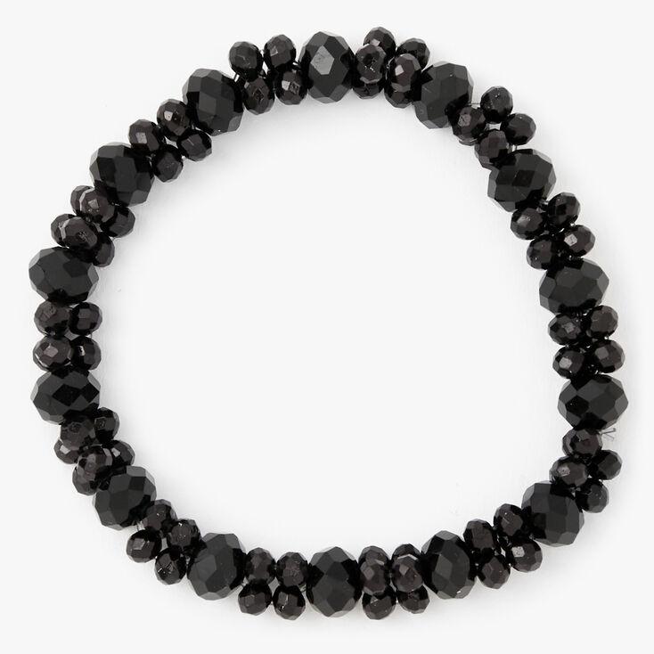 Faceted Beaded Stretch Bracelet - Black,