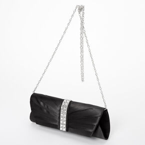 Embellished Clutch Bag - Black,