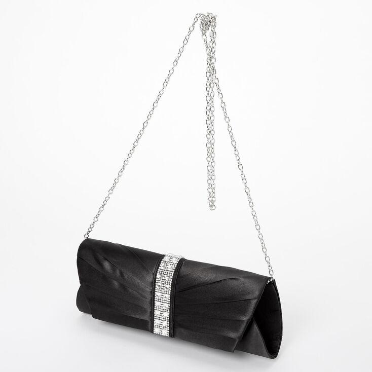 Embellished Clutch Bag - Black,
