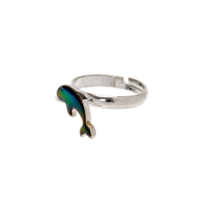 Silver Dolphin Mood Ring,