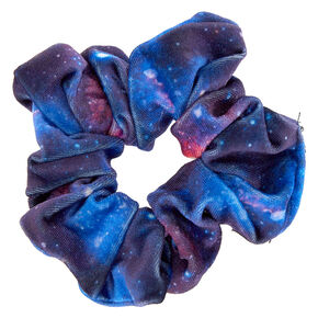 Medium Space Velvet Hair Scrunchie - Blue,