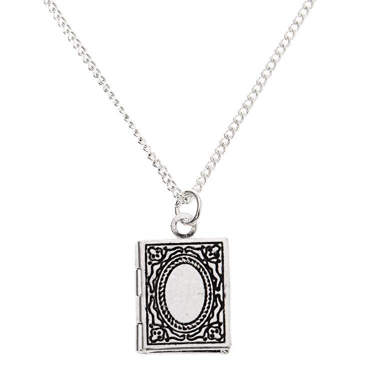 Silver Storybook Locket Pendant Necklace,