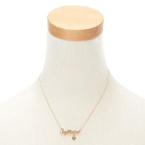 Collier à pendentif zodiaque doré Sagittaire,