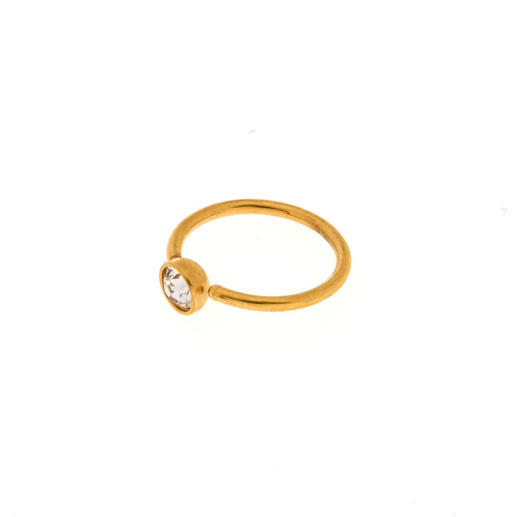 Clear Crystal Gold Nose Ring | Claire\'s