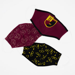 3 Pac Harry Potter™ Burgundy Cloth Face Mask – Child medium/large,