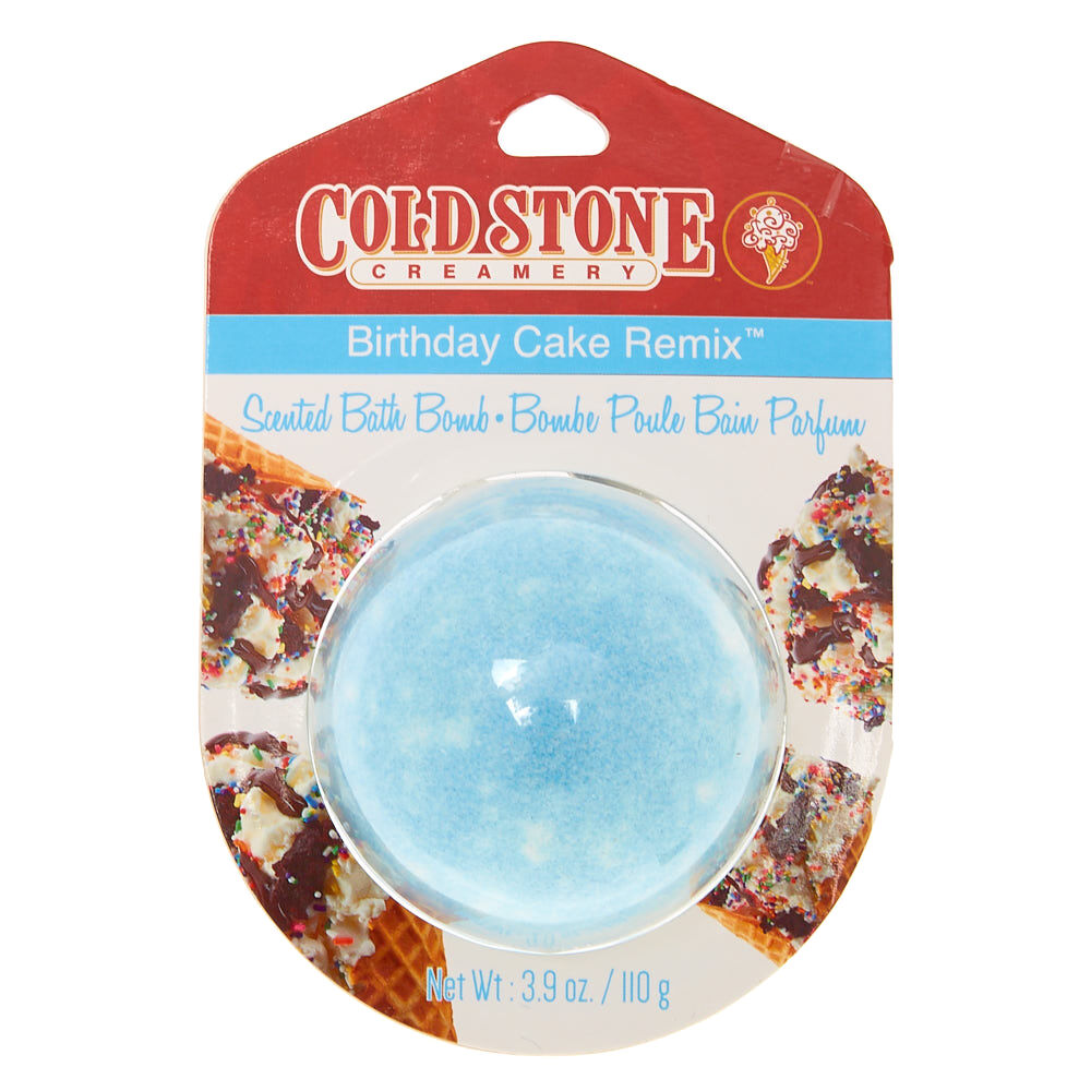Cold Stone Birthday Cake Remix Bath Bomb Blue Claires US