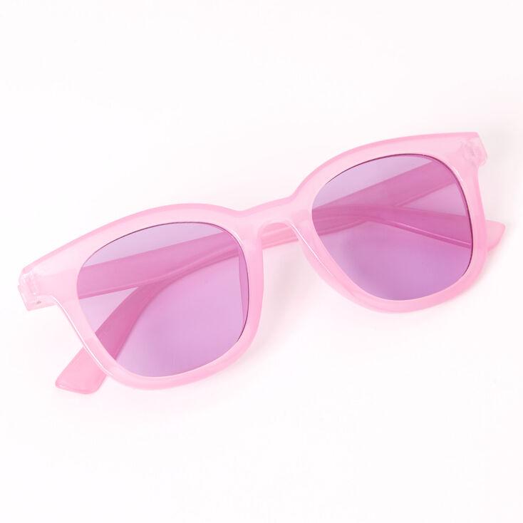 Retro Transparent Sunglasses - Purple,