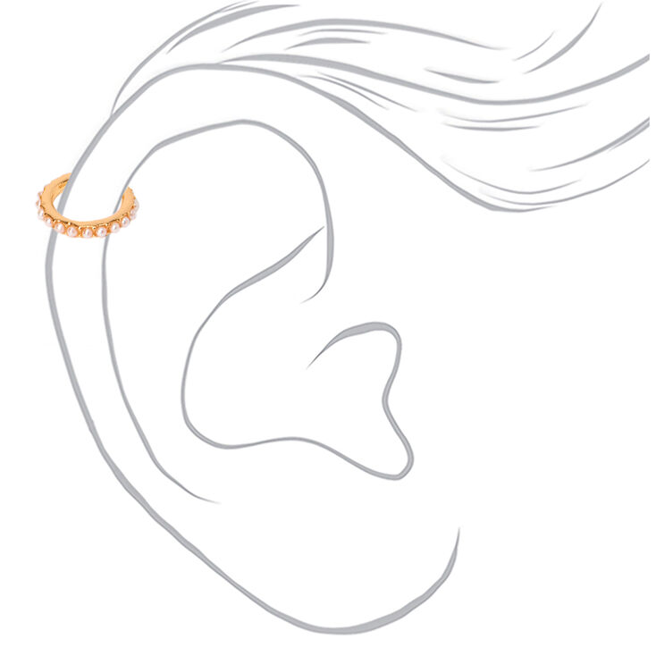 Gold Mixed Pearl Ear Cuffs - 3 Pack,