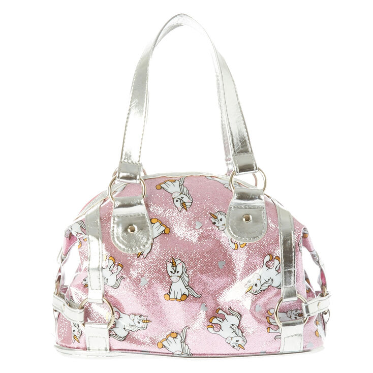 Kids Metallic Unicorn Handbag
