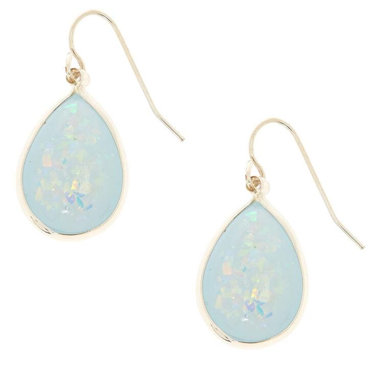 Light Blue Holographic Drop Earrings,