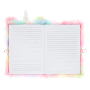 Pastel Rainbow Unicorn Soft Lock Notebook,
