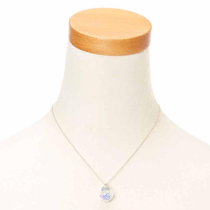 Purple Pastel Confetti Shaker Bead Pendant Necklace,