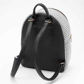 Petit sac à dos motif prince-de-galles - Noir,