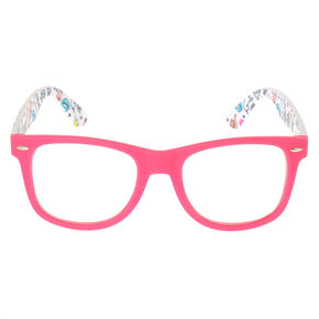 34007ae6b5 Unicorn Rubberized Retro Frames - Pink