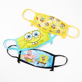 3 Pack SpongeBob SquarePants Face Mask – Adjustable,