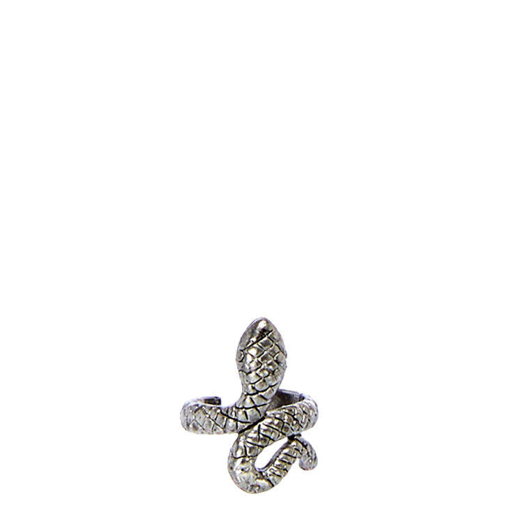Burnished Silver Tone Snake Ear Cuff,