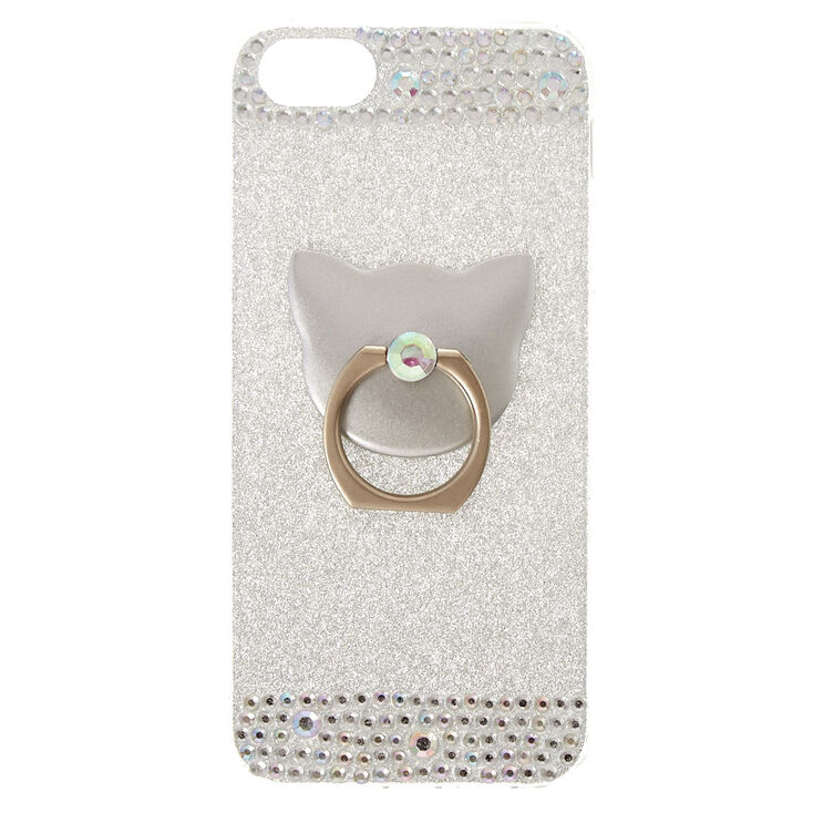 new concept 9e1a4 7399e Cat Glam Finger Ring Phone Case - Fits iPhone 6/7/8