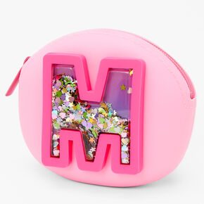 Shaker Initial Jelly Coin Purse - Pink, M,