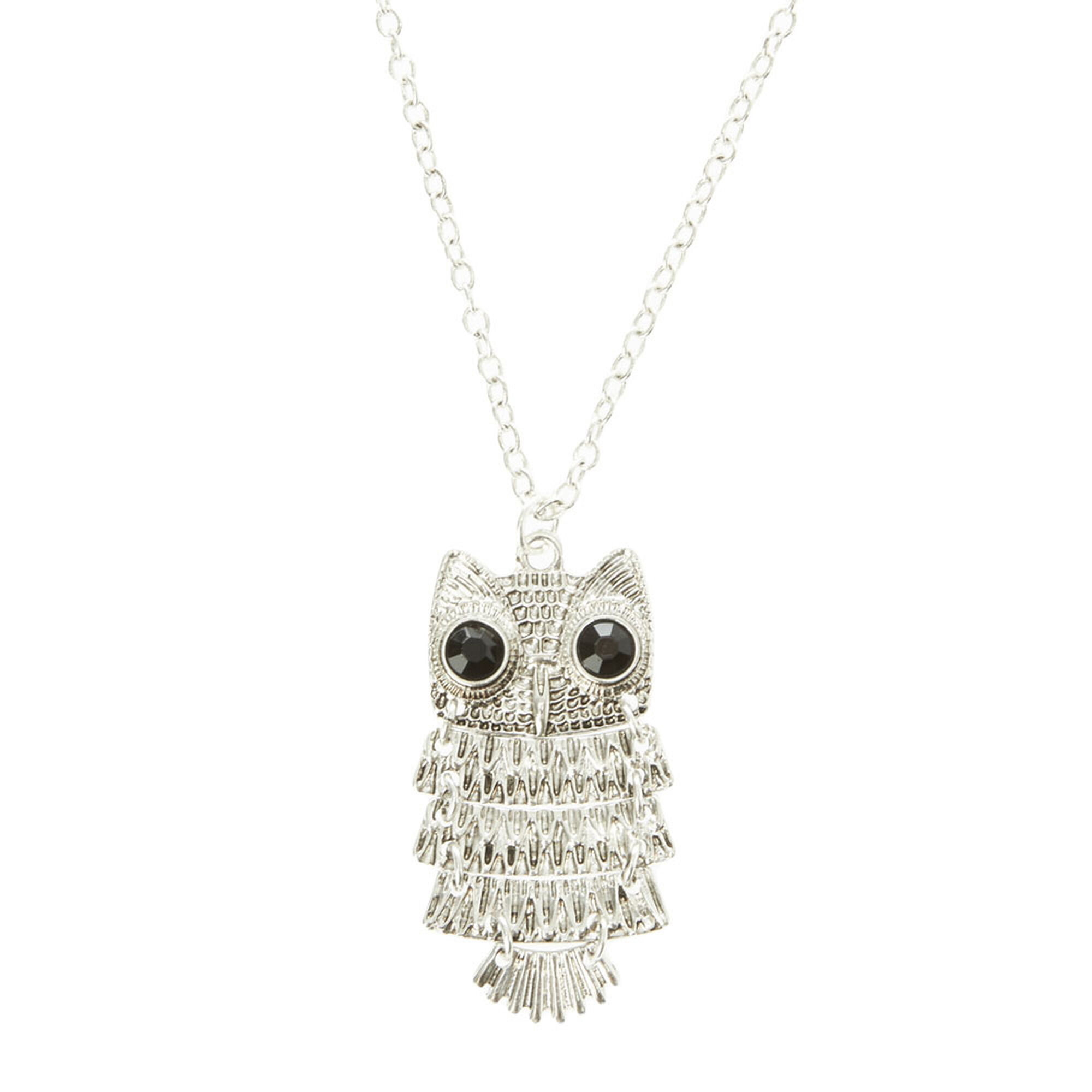 woman creo gls pendant watch silver evil glass jewel owl r