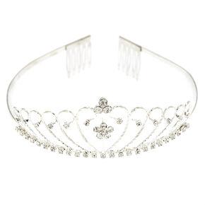 Silver Crystal Daisy Tiara,