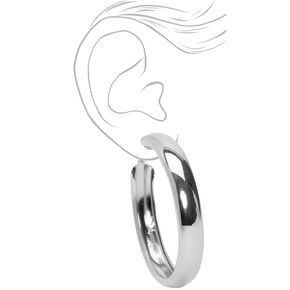 Silver 50MM Tube Hoop Earrings,