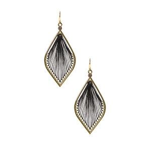 Black & Gold Dreamcatcher Drop Earrings,