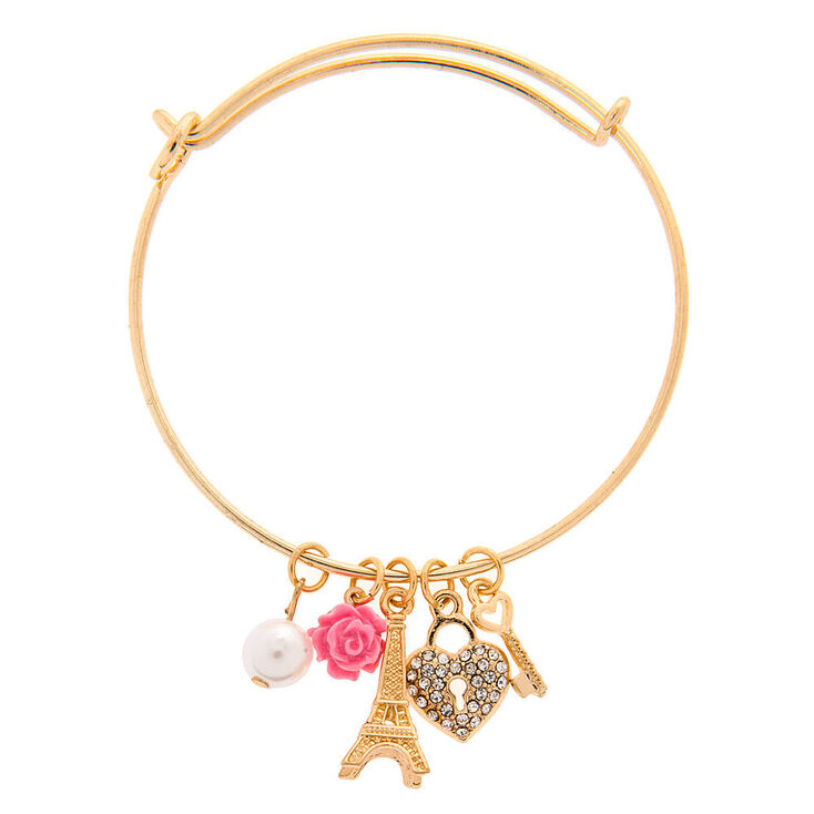 Paris Charms Bangle Bracelet