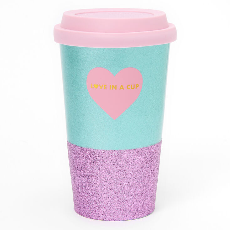 Love in a Cup Lidded Tumbler - Pink,