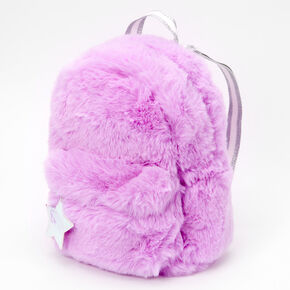 Neon Furry Medium Backpack - Purple,