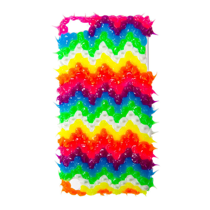3D Neon Rubber Spike Chevron Cover for iPod Touch 4,