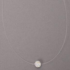 Silver Fireball Illusion Pendant Necklace,