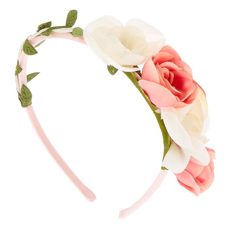 Claire s Club Floral Garland Headband - Pink  81da2e21b7a