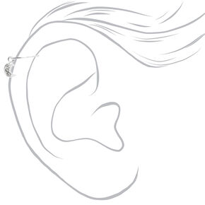 Sterling Silver 22G Celestial Cartilage Hoop Earrings - 3 Pack,