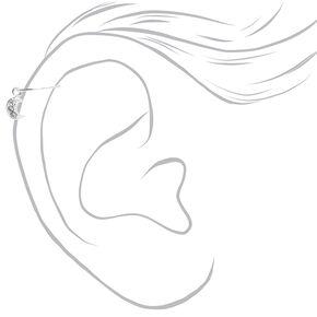 Anneaux d'oreilles pour piercing de cartilage thème céleste 0,6mm couleur argentée - Lot de 3,