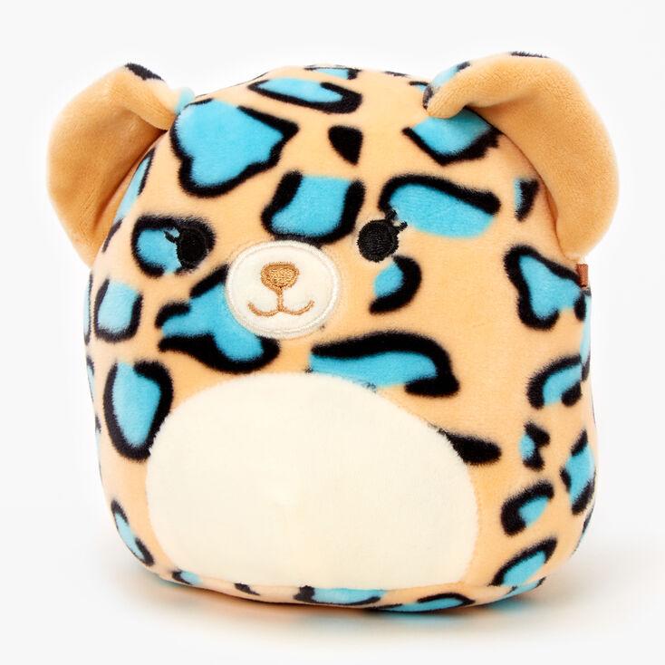Peluche léopard 13cm Squishmallows™ - Bleu sarcelle,