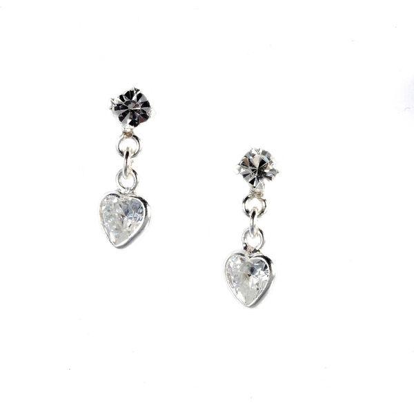 Claire's - sterling heart drop stud earrings - 1