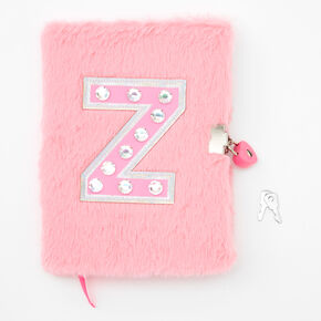 Giant Initial Furry Lock Diary - Z,