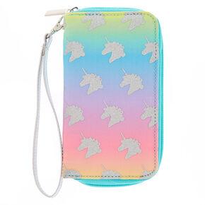 3af474cd05 Rainbow Unicorn Wristlet - Turquoise