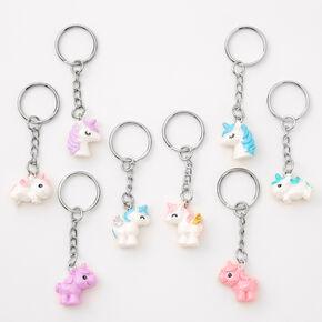 Porte-clés licornes pailletées best friends - Lot de 8,